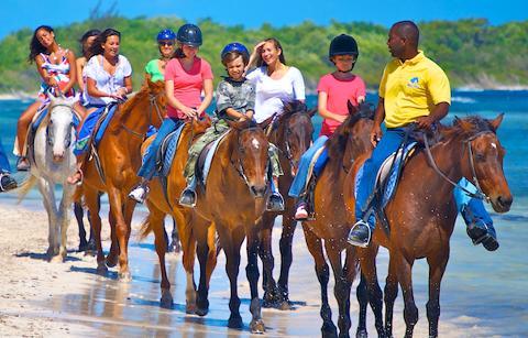 Horseback Ride & Swim, River Tubing and Luminous Lagoon Day Tour from Negril
