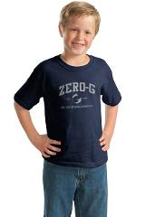 Youth Distressed Print Tshirt - Navy