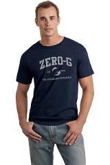 Mens Distressed Print Tshirt - Navy