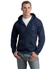 Adult Full Zip Sweatshirts - Navy