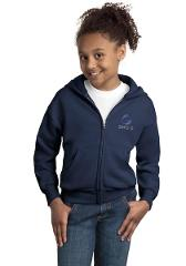 Youth Full Zip Sweatshirts - Navy