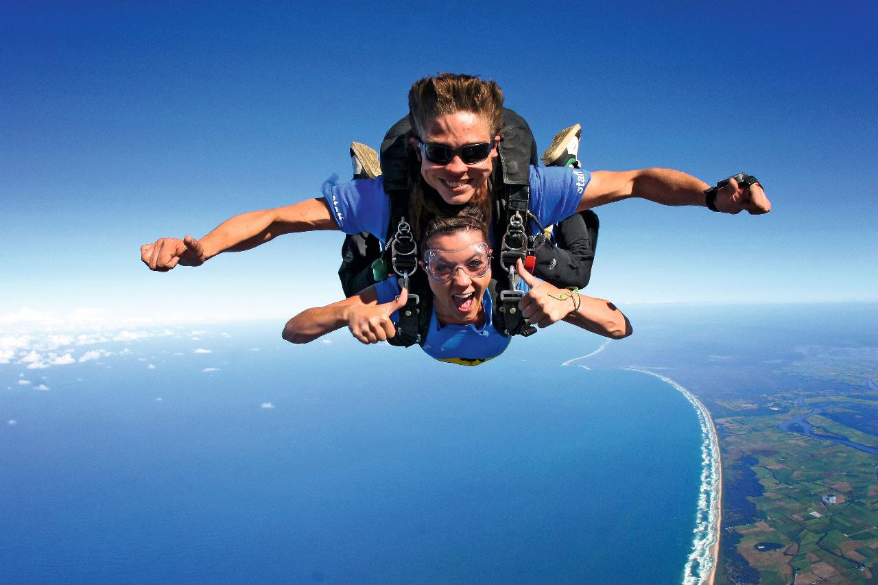 The Highest Skydive over the most Easterly point of Australia