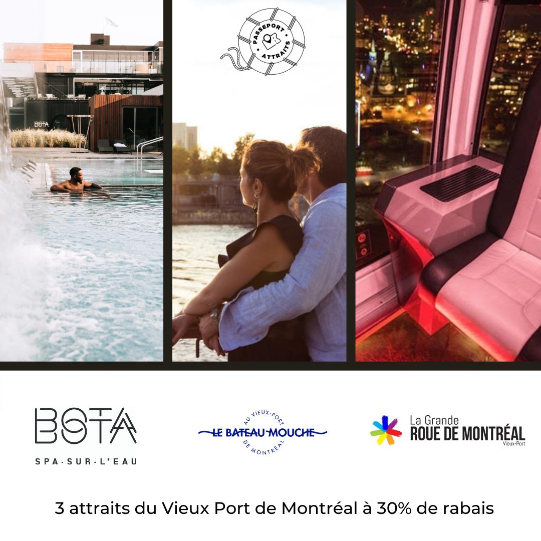 Passeport Escale glamour au Vieux-Port de Montréal