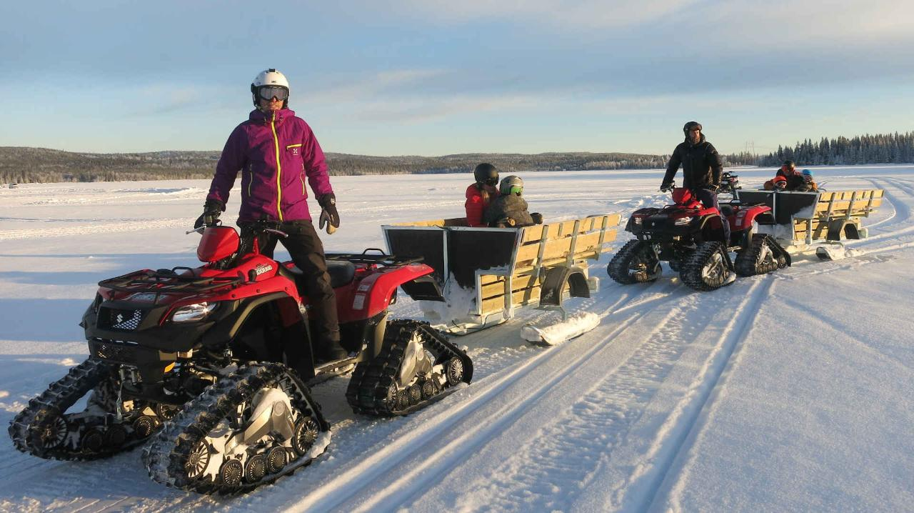 "Snow Quad Family Adventure with ""fika"""