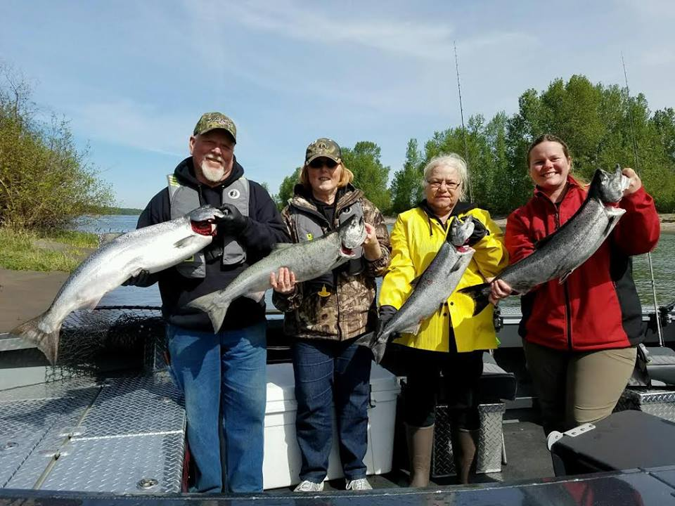 Spring king salmon columbia river online booking for for Portland fishing guides