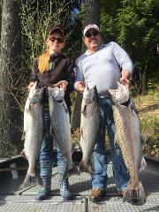 Cowlitz River King and Coho Salmon