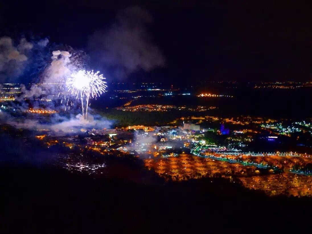 Evening Flight 45 Minutes Fireworks Tour