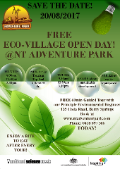 FREE ECO VILLAGE TOUR @ NT ADVENTURE PARK - 20 AUGUST 2017