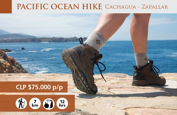 PACIFIC OCEAN HIKE 7K- fullday from Santiago