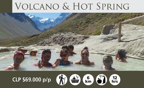 Volcano & Hot Springs 6K - Cajón del Maipo from Santiago (Oct - May)