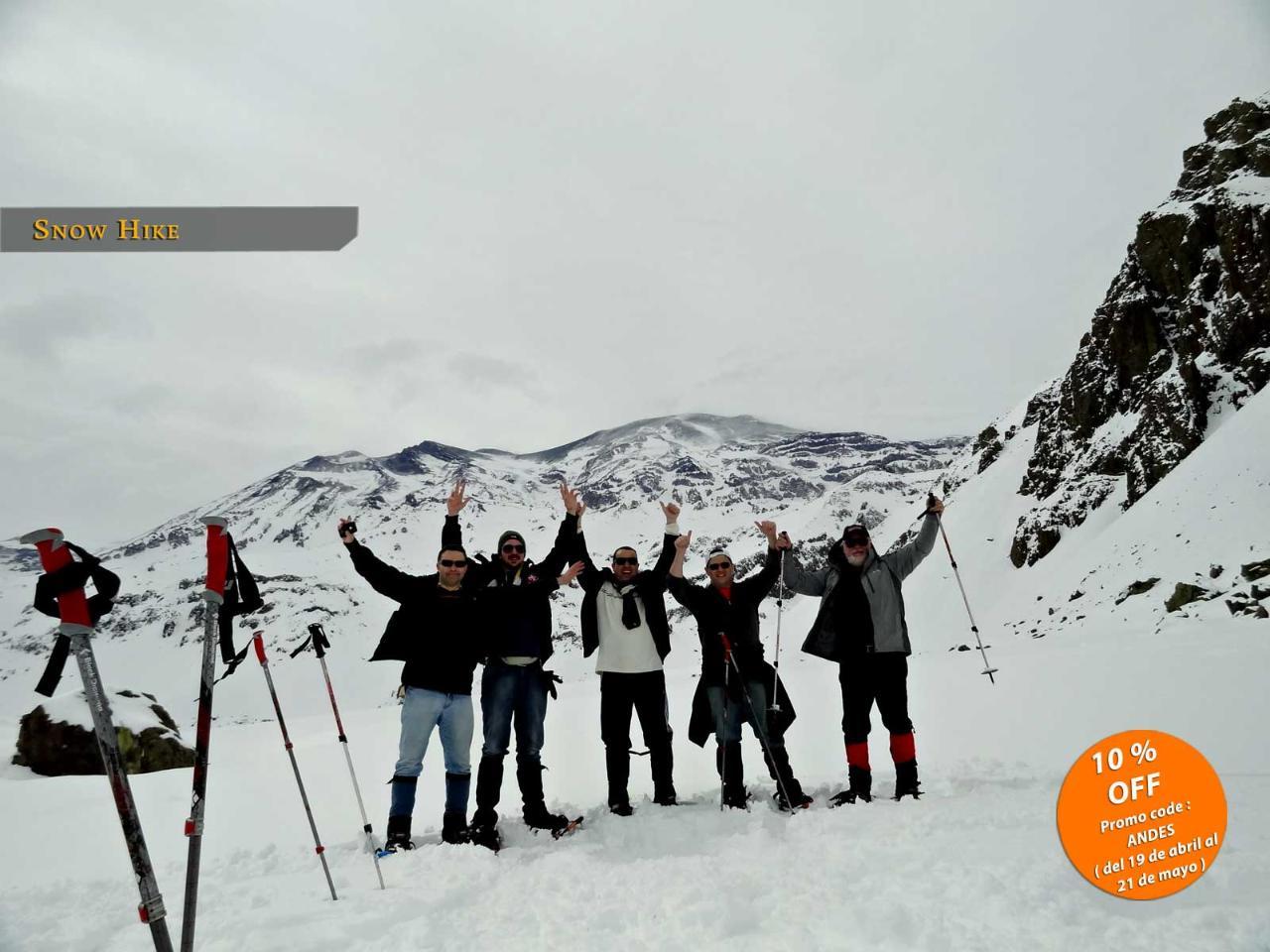 SNOW HIKE 6K- Raquetas de nieve/Snowshoeing in Cajón del Maipo from Santiago 10% OFF (Code ANDES) 100 USD!!!!