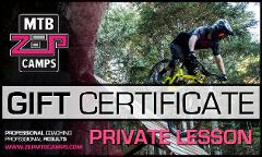 ZEP MTB Gift Card 1 Day Private Lesson, 1 Person