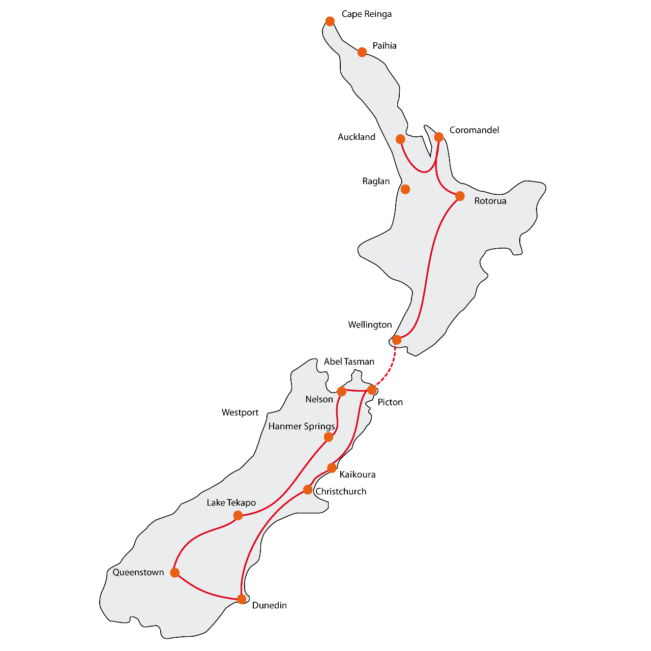 Combo Tour North & South Island - December/January