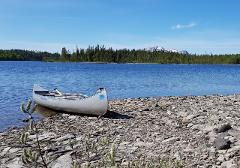 Canoe adventure with outdoor lunch