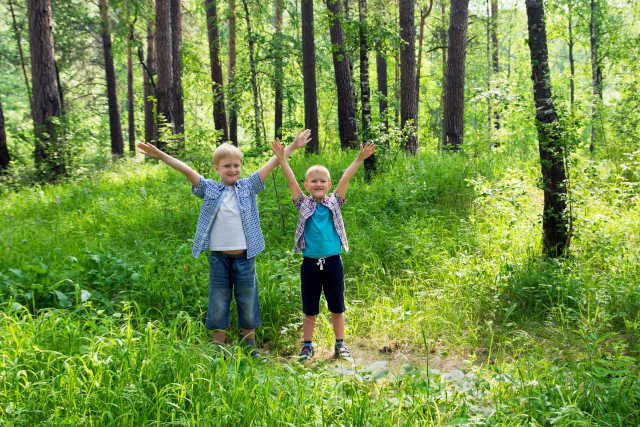 Family wilderness adventure