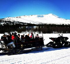 "ATV Wintersled Adventure with ""fika"""