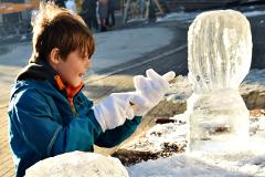 "Ice sculpting with ""fika"" at Copperhill"