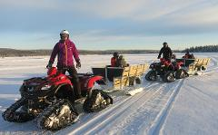 "Snow Quad Family Adventure with ""fika"""