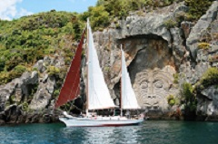 12.30hrs (12.30pm),  Maori Rock Carvings, Sun Fun & Wind