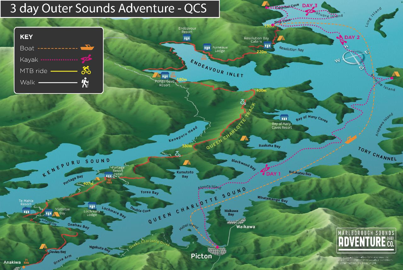 3 Day Outer Sounds Adventure