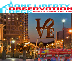 One Liberty Observation Deck & Twilight Philly Night Tour 1 Day Bus Combo