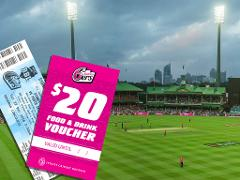 Sydney 6ers  Match Day Guided Walking Tour Package - Gold Ticket