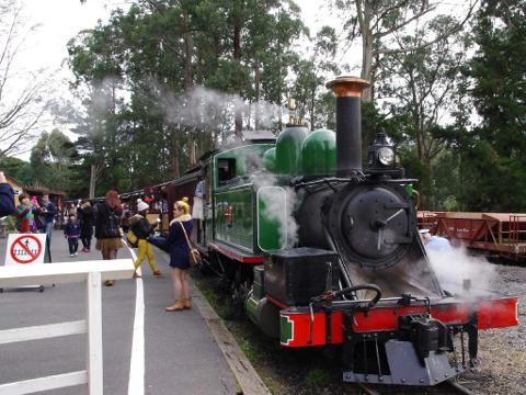 Puffing Billy with Blue Dandenong
