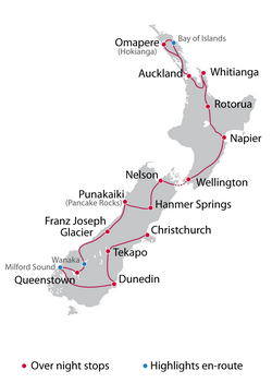 Self Guided 21 Day North & South Island Tour