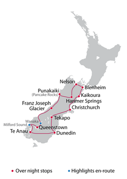 Self Guided 14 Day South Island Tour