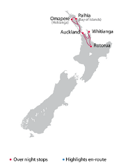 Self Guided 7 Day North Island Tour