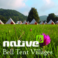 PRE-PITCHED FAMILY BELL TENT - 7 NIGHTS (3 to 6 occupants)