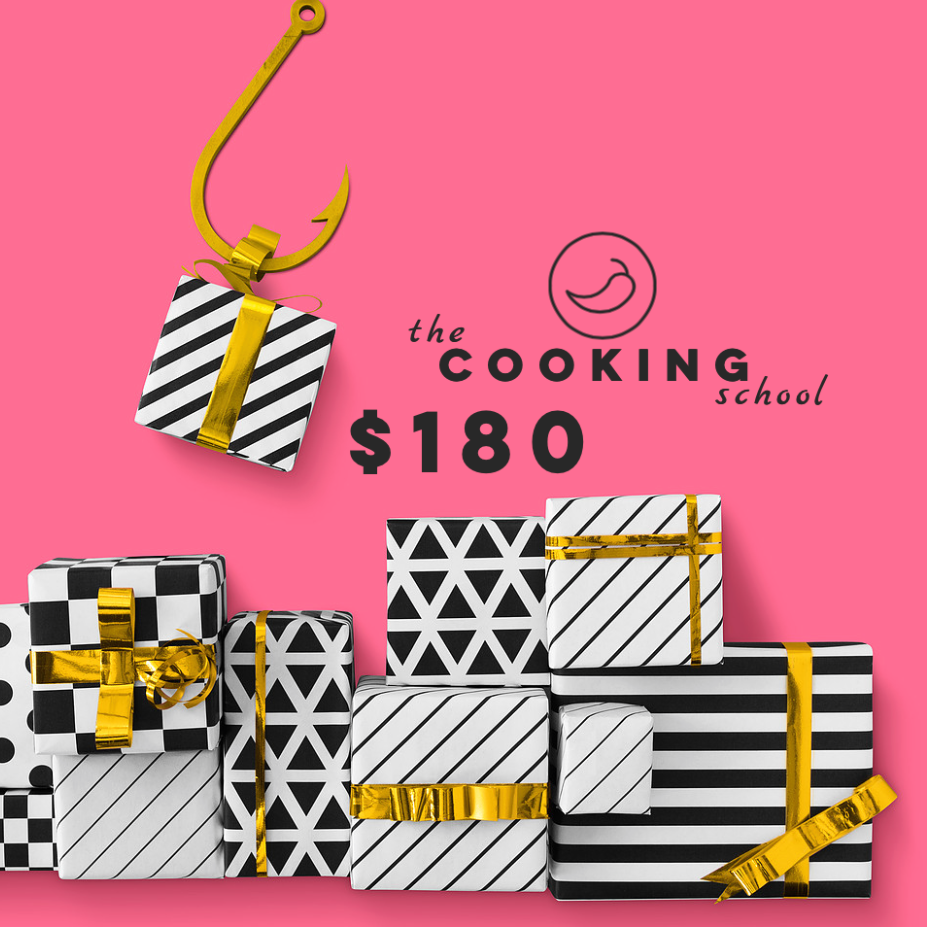 "$180 gift voucher ""the COOKING school"" - Sydney"