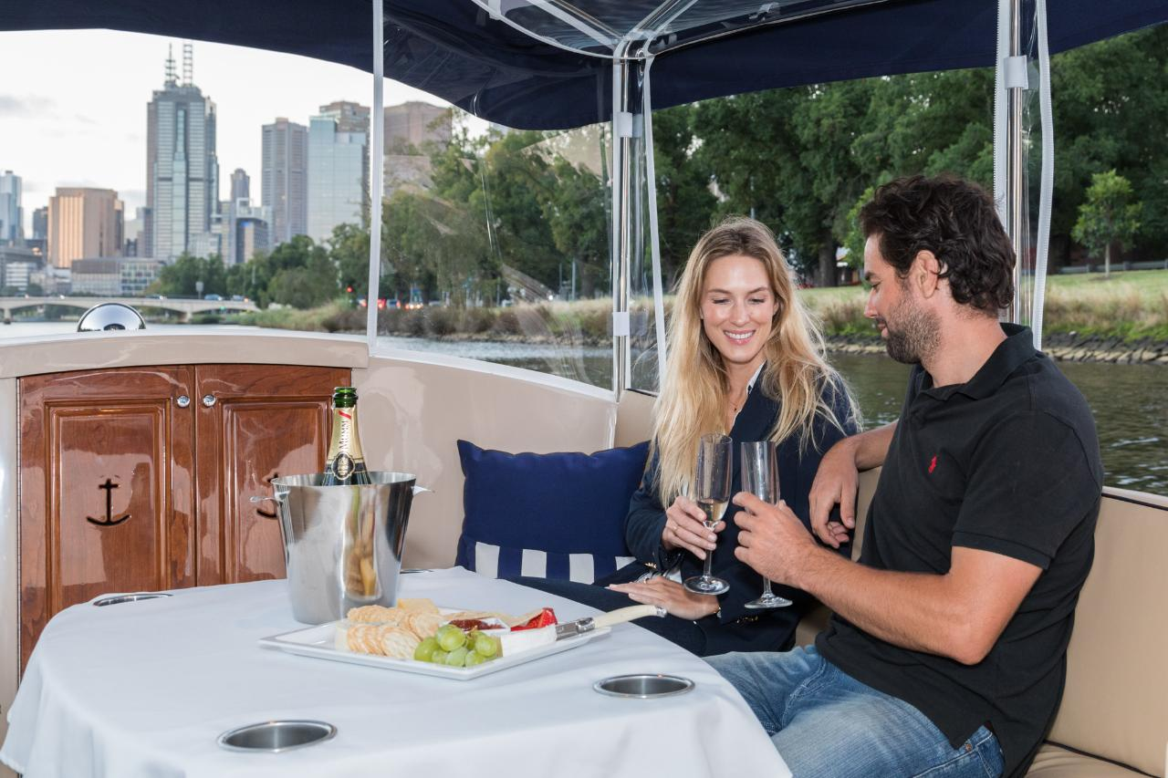 1.5Hr Yarra River Wine and Cheese Cruise for up to 6 People - Departing Docklands