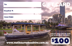 Melbourne Boat Hire - $100 Gift Card