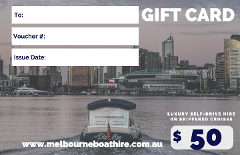 Melbourne Boat Hire - $50 Gift Card