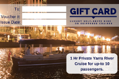 1 Hour Luxury Yarra River Cruise with Private Skipper - Gift Card