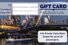 4 Hour Luxury Cruise with private Skipper - Gift Card