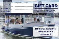 2 Hour Luxury Cruise with private Skipper - Gift Card