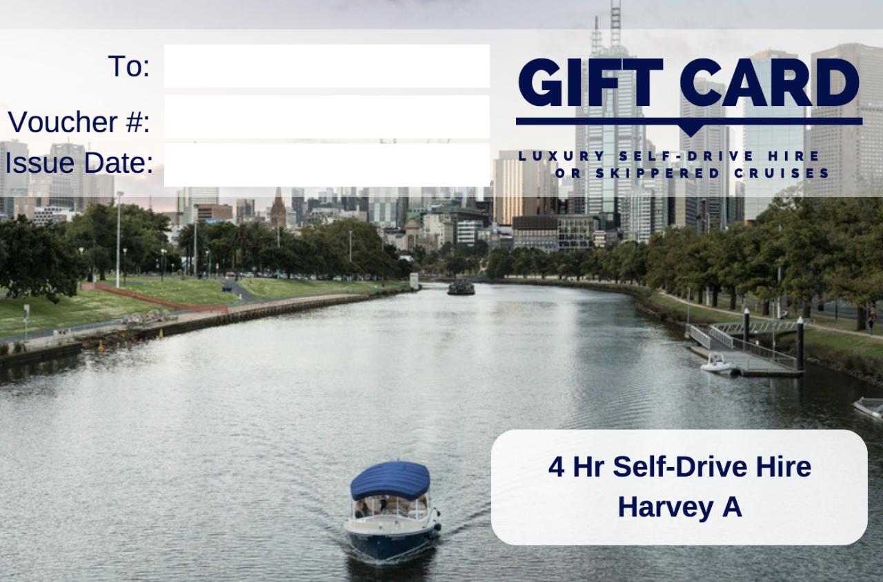 4 Hour Self-Drive Hire - Harvey A- Gift Card