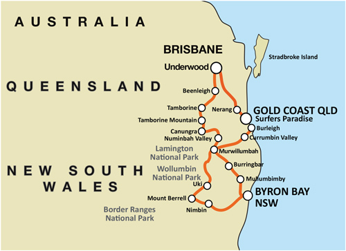Byron Bay Escape - Self Drive Motorcycle Tour (BNE)