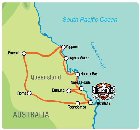 Capricorn Coast Queensland - Self Drive Motorcycle Tour (BNE)