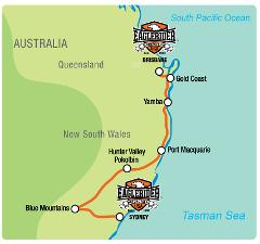 Brisbane / Sydney Coastal - Self Drive Motorcycle Tour (BNE)