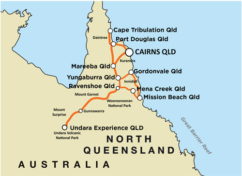Reef Rainforest & Outback  - Guided Motorcycle Tour