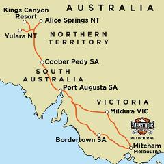Red Centre - Guided Motorcycle Tour (MEL)