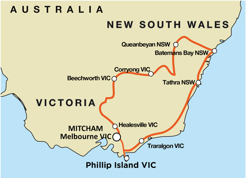 Phillip Island - Alpine Way - Snowy Mountains - Guided Motorcycle Tour (MEL)