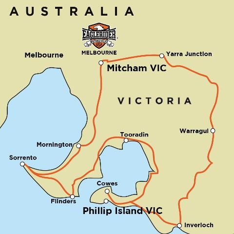 Phillip Island - Mornington Peninsula - Self Drive Motorcycle Tour (MEL)