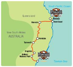 Sydney / Brisbane Inland Adventure - Self Drive Motorcycle Tour (SYD)