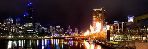 Melbourne City lights cruise
