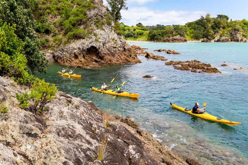 2 day kayak tour - Hauraki Gulf Marine Park