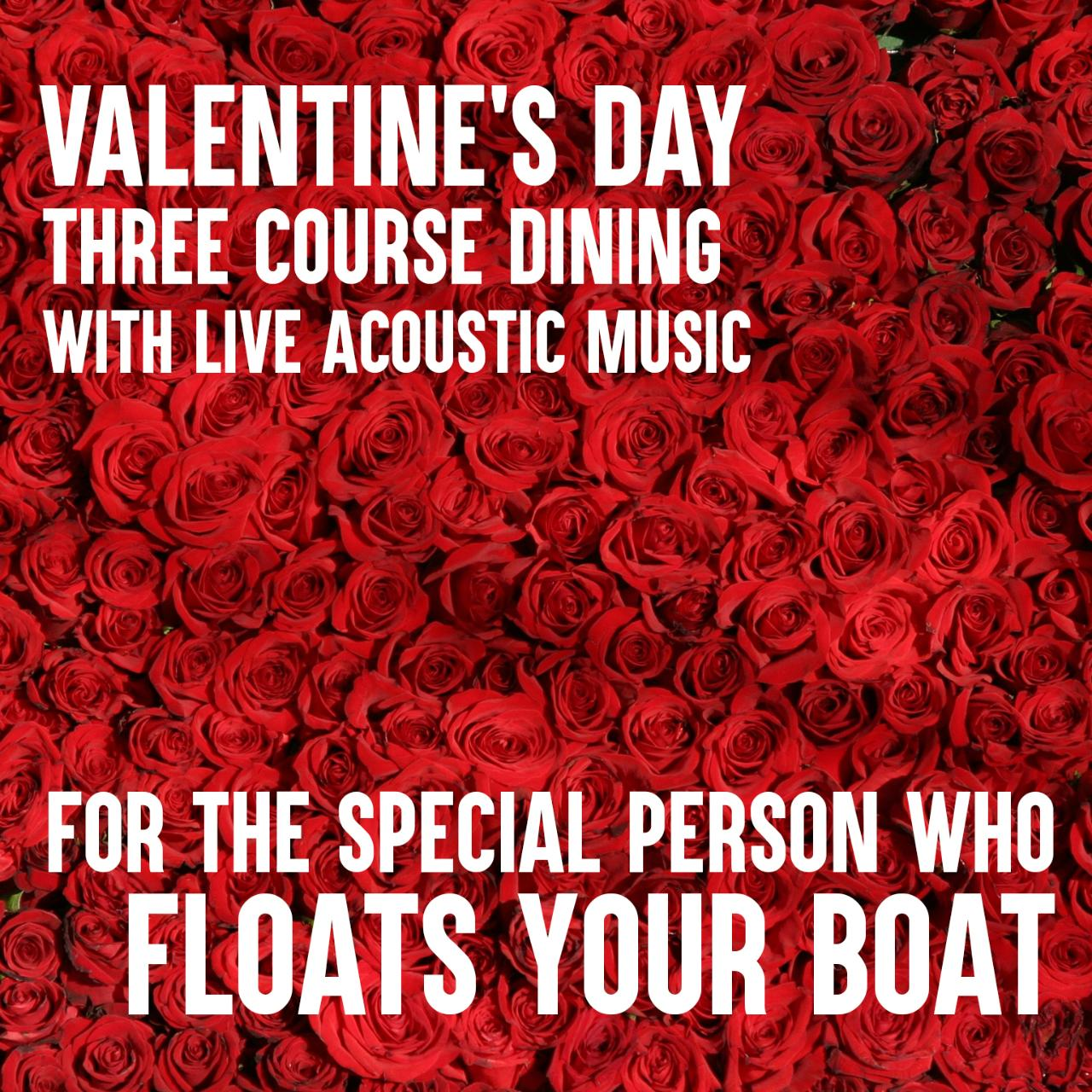 Valentine's Day - Romantic 3 Course Dining Cruise
